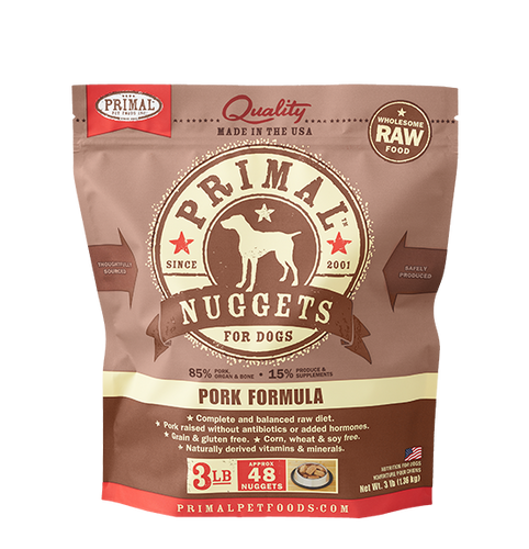 Primal Frozen - Pork - 3lbs - Woofur Natural Pet Products