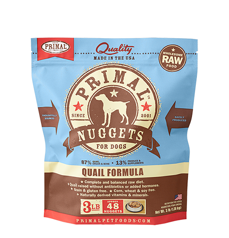 Primal Frozen - Quail - 3lbs - Woofur Natural Pet Products