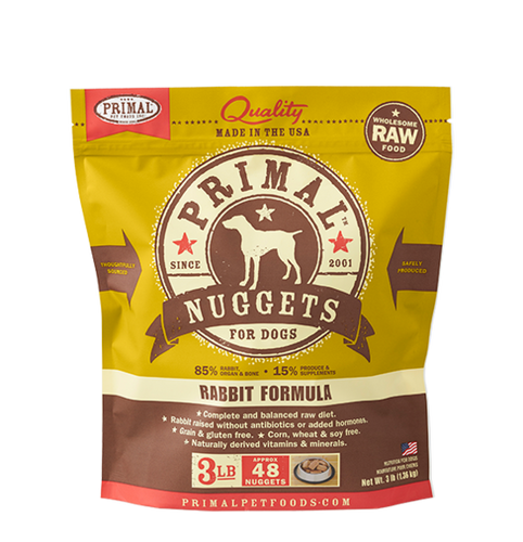 Primal Frozen - Rabbit - 3lbs - Woofur Natural Pet Products