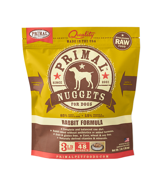 Primal Frozen - Rabbit - 3lbs - Chubbs Bars, Frozen Raw Food - pet shampoo, Woofur - Chubbs Bars Company, Woofur Natural Pet Products - Chubbs Bars Canada