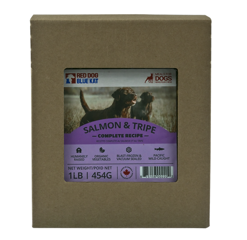 RDBK - SALMON & TRIPE DINNER - 4LBS - Chubbs Bars, Frozen Raw Food - pet shampoo, Woofur - Chubbs Bars Company, Woofur Natural Pet Products - Chubbs Bars Canada