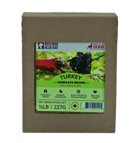 RDBK - COMPLETE TURKEY DINNER - 4LBS - Chubbs Bars, Frozen Raw Food - pet shampoo, Woofur - Chubbs Bars Company, Woofur Natural Pet Products - Chubbs Bars Canada