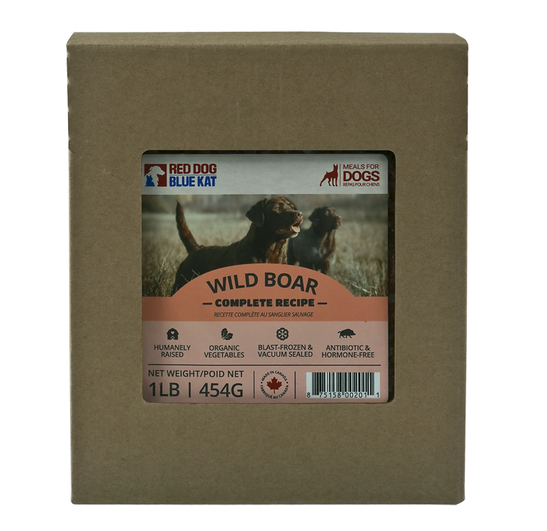 RDBK - COMPLETE WILD BOAR DINNER - 4LBS - Chubbs Bars, Frozen Raw Food - pet shampoo, Woofur - Chubbs Bars Company, Woofur Natural Pet Products - Chubbs Bars Canada