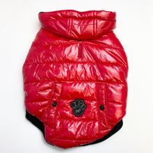 Load image into Gallery viewer, Canada Pooch - Shiny Puffer Vest (Red)