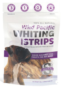 Snack21 - Wild Pacific Whiting Jerky Strips Treats - Chubbs Bars, Treats - pet shampoo, Woofur - Chubbs Bars Company, Woofur Natural Pet Products - Chubbs Bars Canada