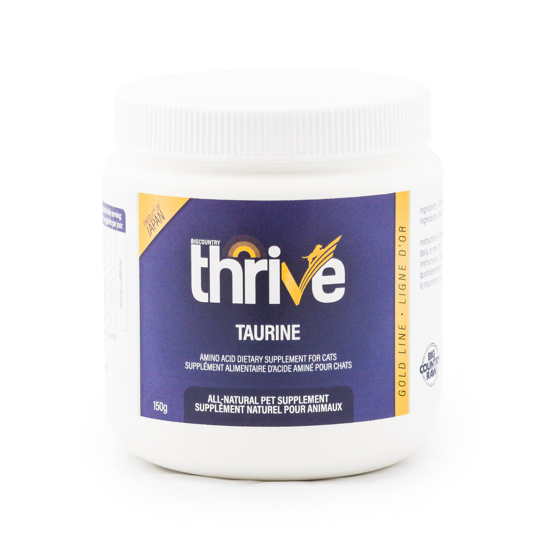 THRIVE - GOLD LINE TAURINE - Chubbs Bars, Supplements - pet shampoo, Woofur - Chubbs Bars Company, Woofur Natural Pet Products - Chubbs Bars Canada