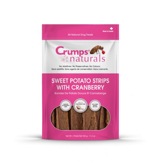 Crumps' Naturals Treats - CRUMPS Sweet Potato & Cranberry Strips - Chubbs Bars, Treats - pet shampoo, Woofur - Chubbs Bars Company, Woofur Natural Pet Products - Chubbs Bars Canada