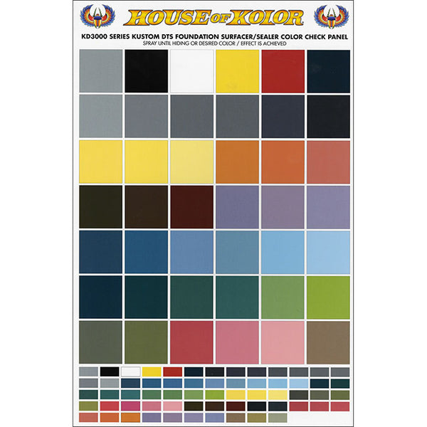 "HOK KD3000 Series Color Check Panel - 11"" x 17"""