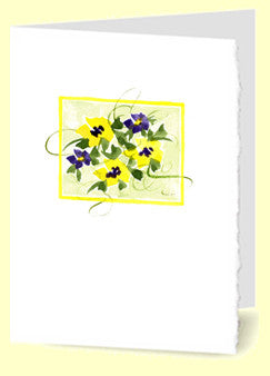 CG-004 Periwinkle & Yellow Flowers