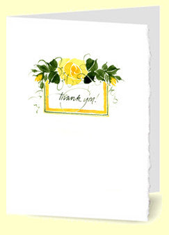 CT-012 Thank You (yellow rose)