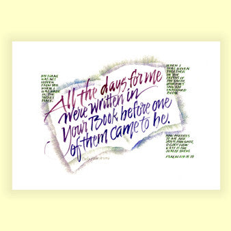 PS-008 Written in Your Book - Psalm 139 (8x10)