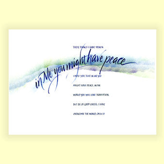PS-009 That You Might Have Peace - John 16:33 (8x10)