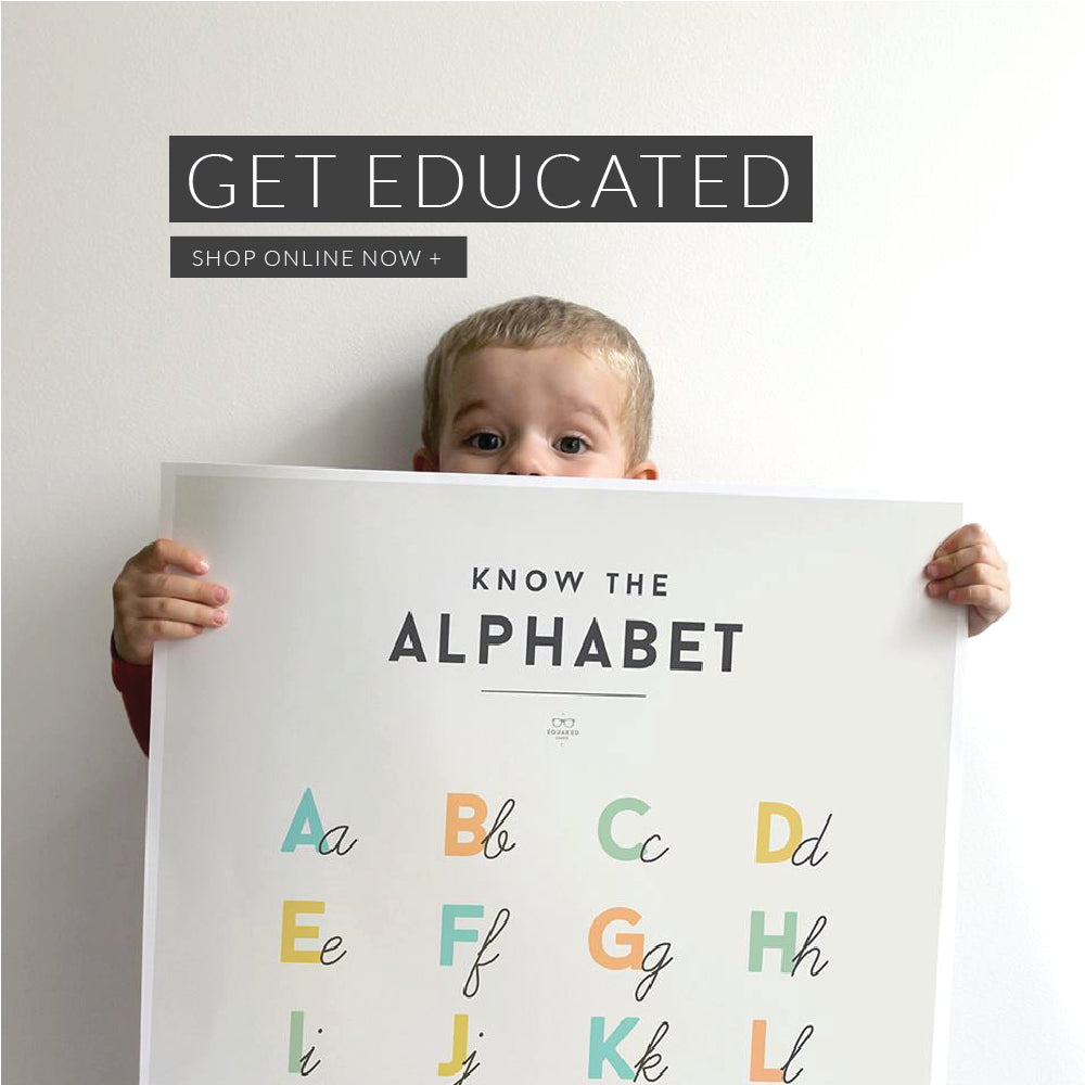 Get Educated with our New Children, Kids, Toddler, Baby Educational Posters
