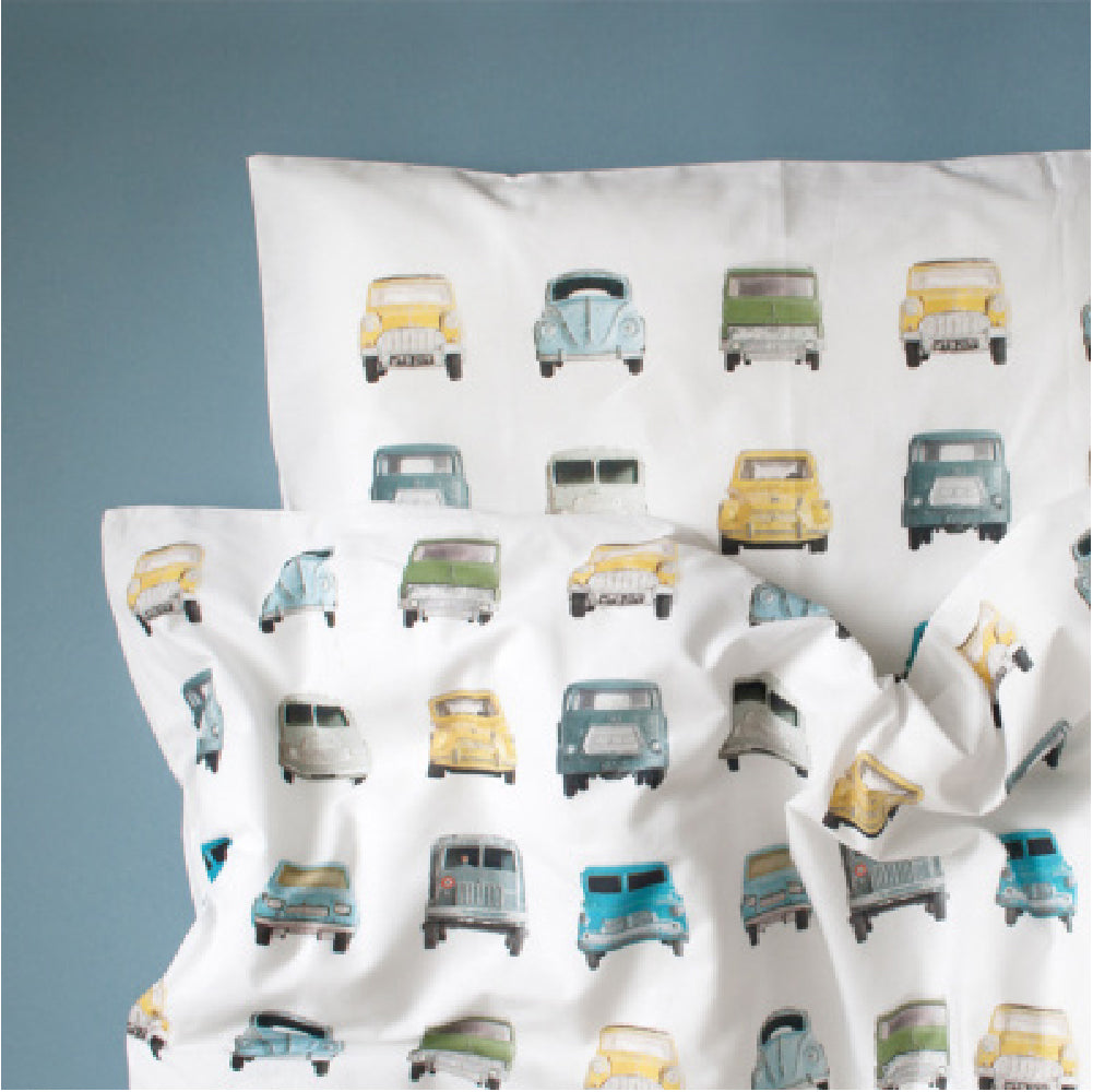 Toddler Junior Bedding STUDIO DITTE Vintage Cars