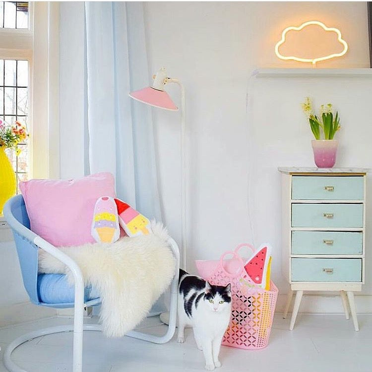 A Little Lovely Company Neon Yellow Cloud Light