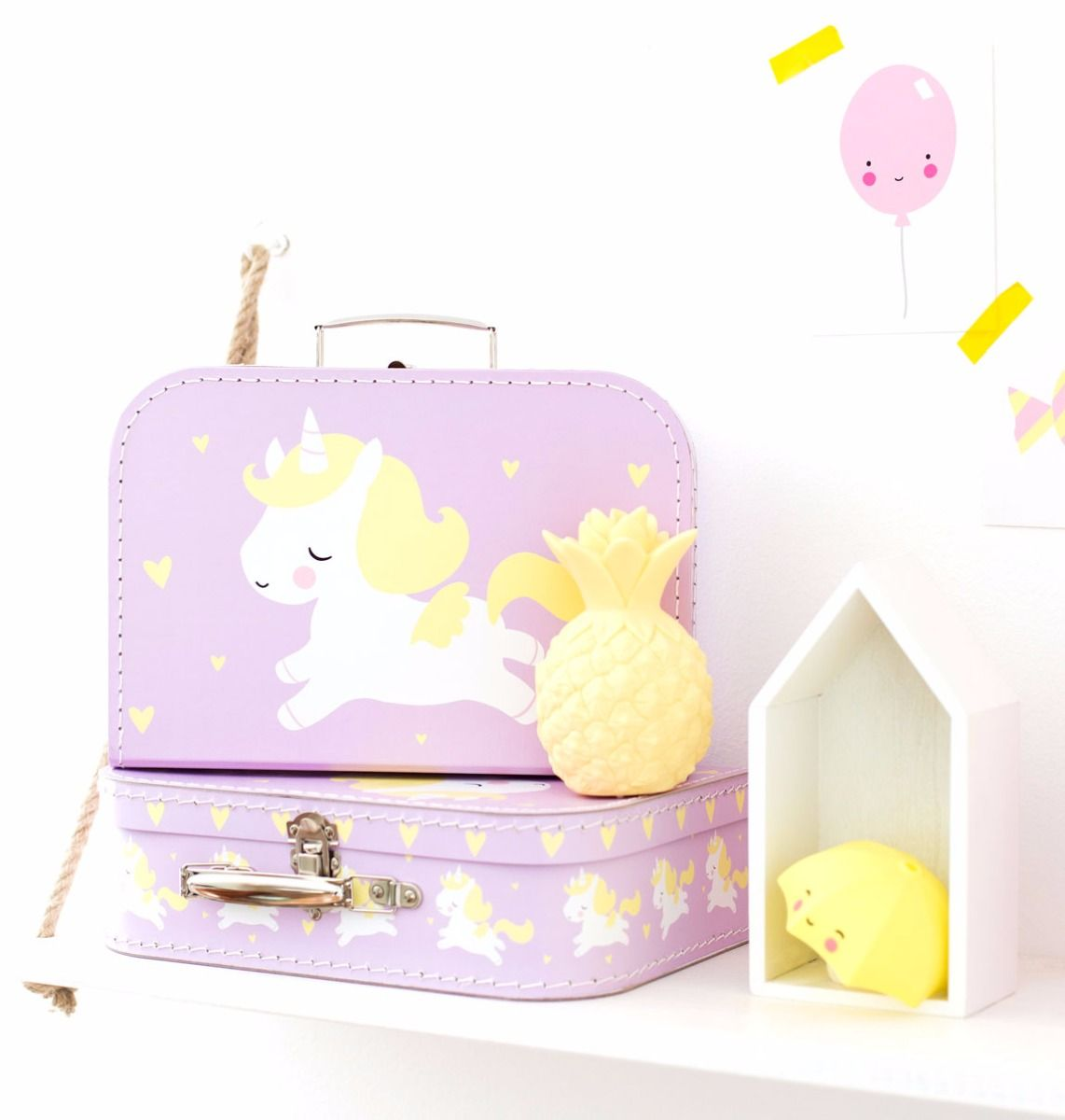 A Little Lovely Company I Believe In Unicorns Suitcase