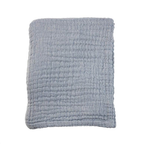 Baby Blanket Soft Mousseline Blue