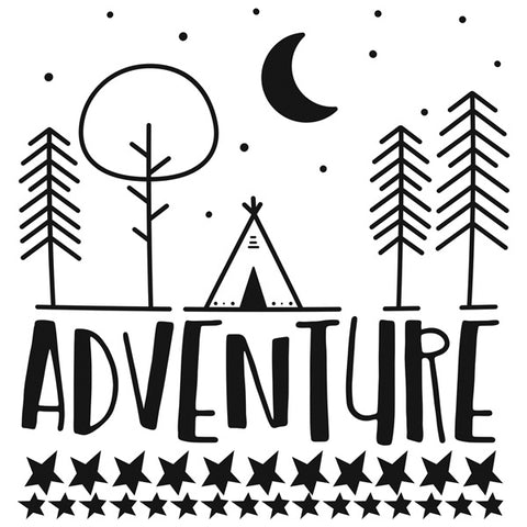 Wall Decal Adventure Black
