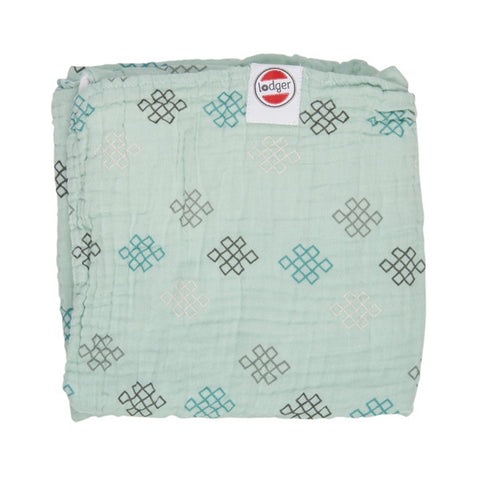 Lodger Blanket Muslin Silt Green