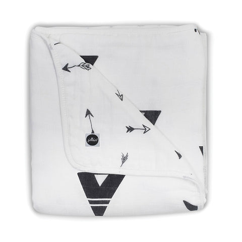 Blanket Muslin Indians Black & White
