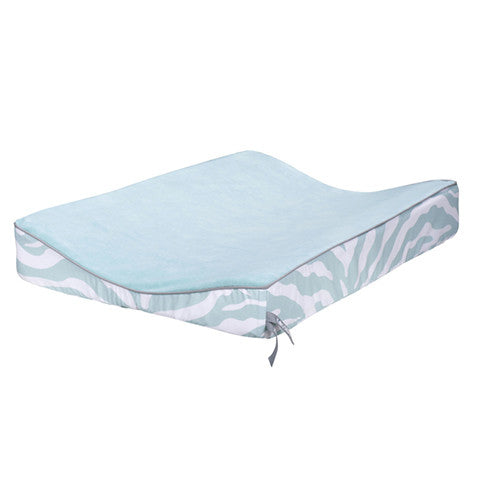 Zebra Changing Pad Cover Mint Green