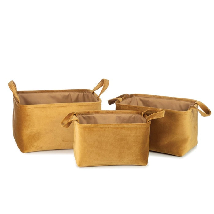 Basket Billie Gold Set of 3