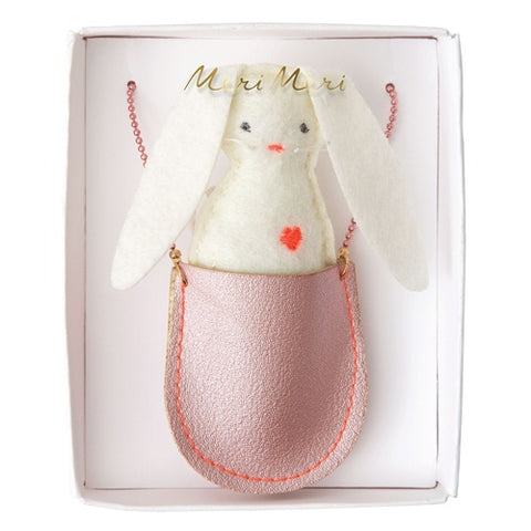 Kids Necklace Pocket Bunny