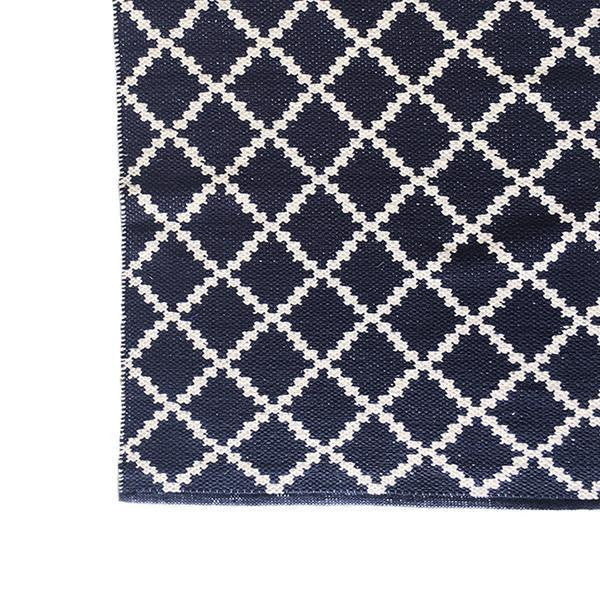 DEER Cotton Rug Geometric Navy