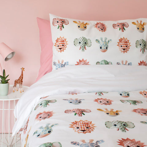 Duvet Cover Wild Animals Sweet