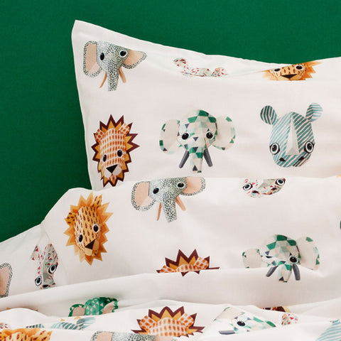 Duvet Cover Wild Animals Cool Toddler Size