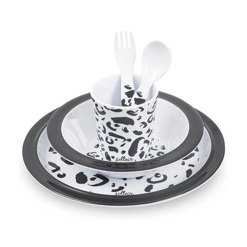 Dinner Set Melamine Leopard