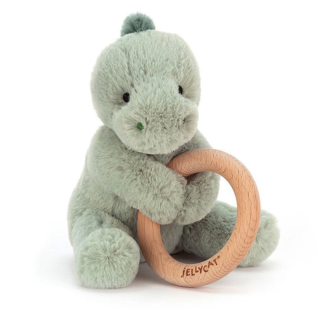 Jellycat Wooden Ring Toy Shooshu Dino