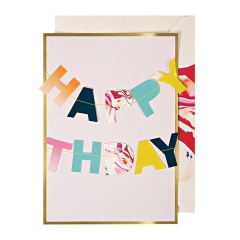 Greeting Card Happy Birthday Garland