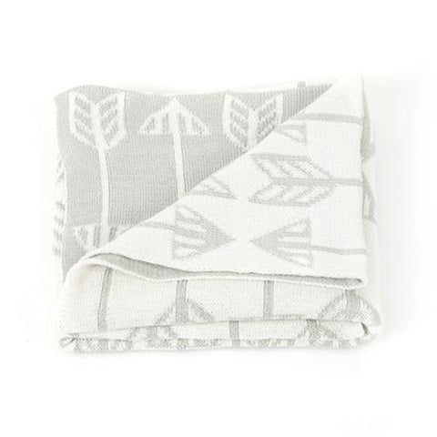Roomblush Junior Blanket Grey Arrow
