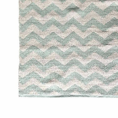 DEER Cotton Rug Chevron Mint Green