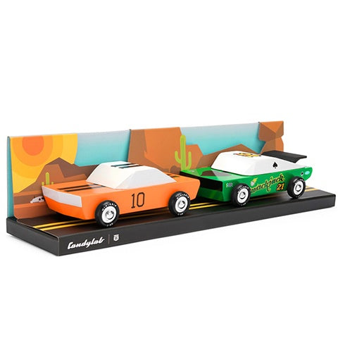 Wooden Toy Cars Junior Desert Race Set