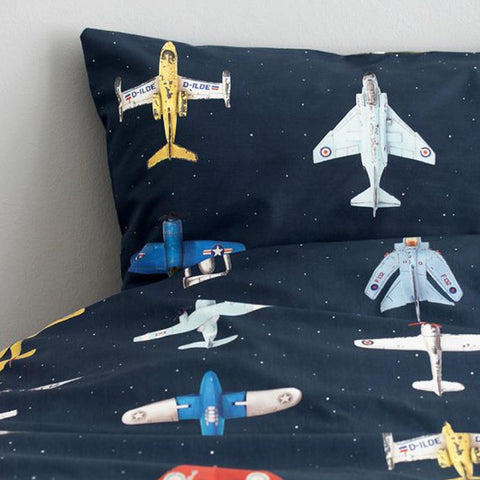 Duvet Cover Airplanes Dark