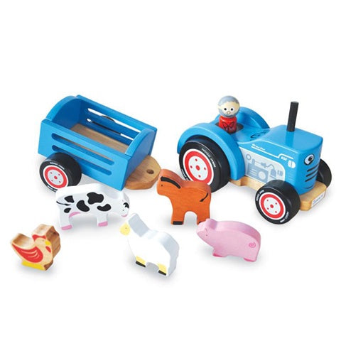 Wooden Toy Tractor Tim