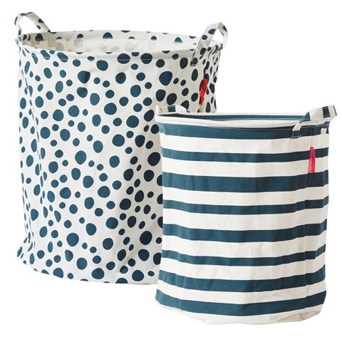 Soft Storage Basket Blue (Set of 2)