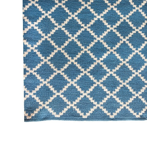 DEER Cotton Rug Geometric Royal Blue