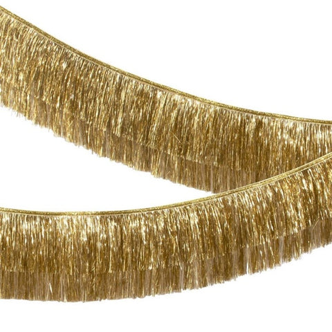 Garland Gold Iridescent Tinsel Fringe