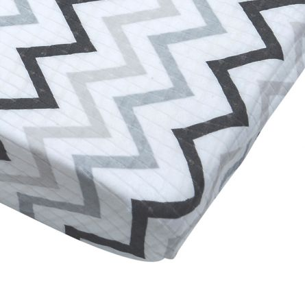 Lodger Fitted Sheet Cot(Bed) Zig Zag Black White