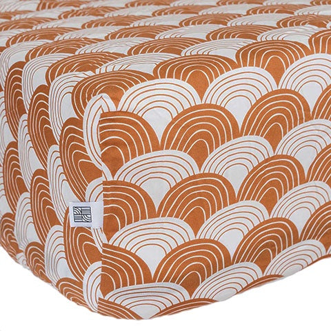Fitted Sheet 90x200 Rainbows Cinnamon Brown