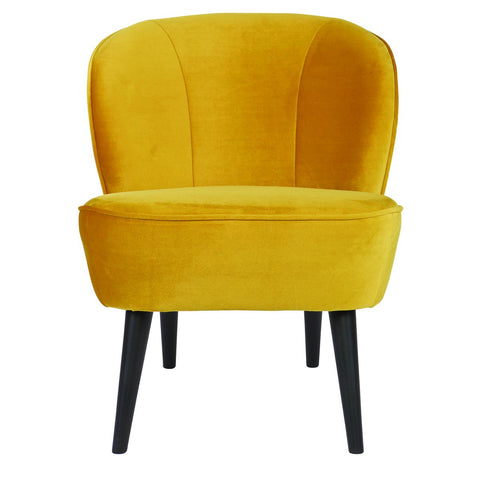 Upholstered Chair Velvet Ochre