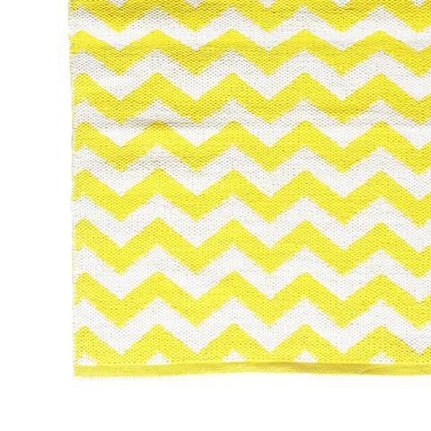 DEER Cotton Rug Chevron Vibrant Yellow