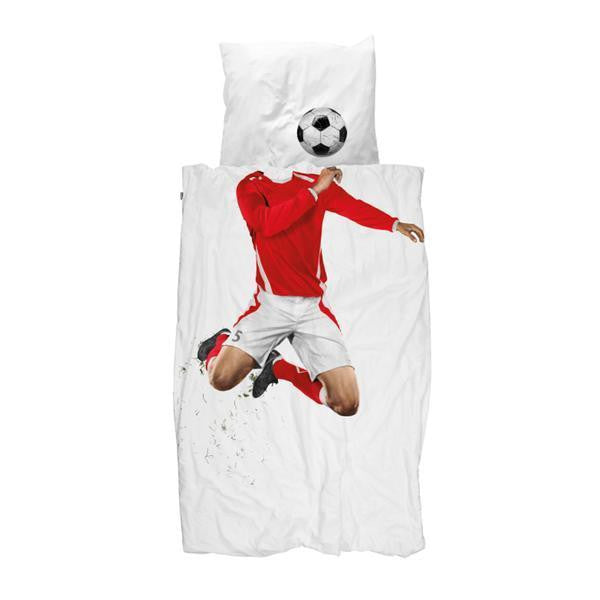 Duvet Cover Soccer Player Red