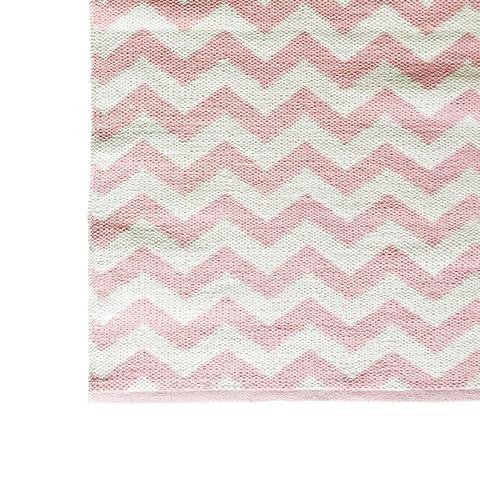 DEER Cotton Rug Chevron Dusty Pink