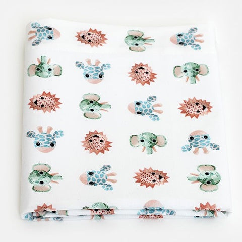 Cot Flat Sheet Wild Animals Sweet 120x150 cm