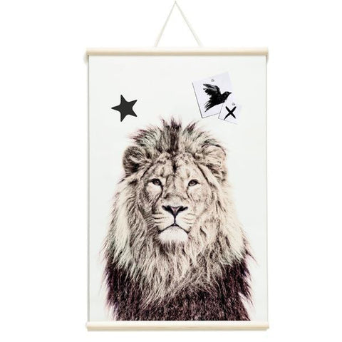 Magnetic Poster Lion