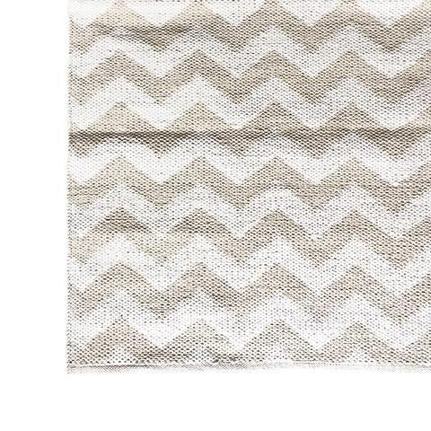 DEER Cotton Rug Chevron Birch